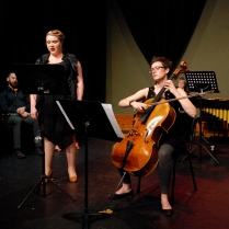 "Anna-Louise Cole and Jennifer Mills performing ""ad Astra"" by Sally Whitwell"