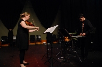 "Phoebe Green and Dan Richardson performing ""the arrival"" by David Chisholm."